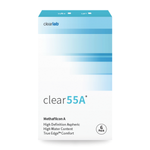 Clear 55A contact lenses